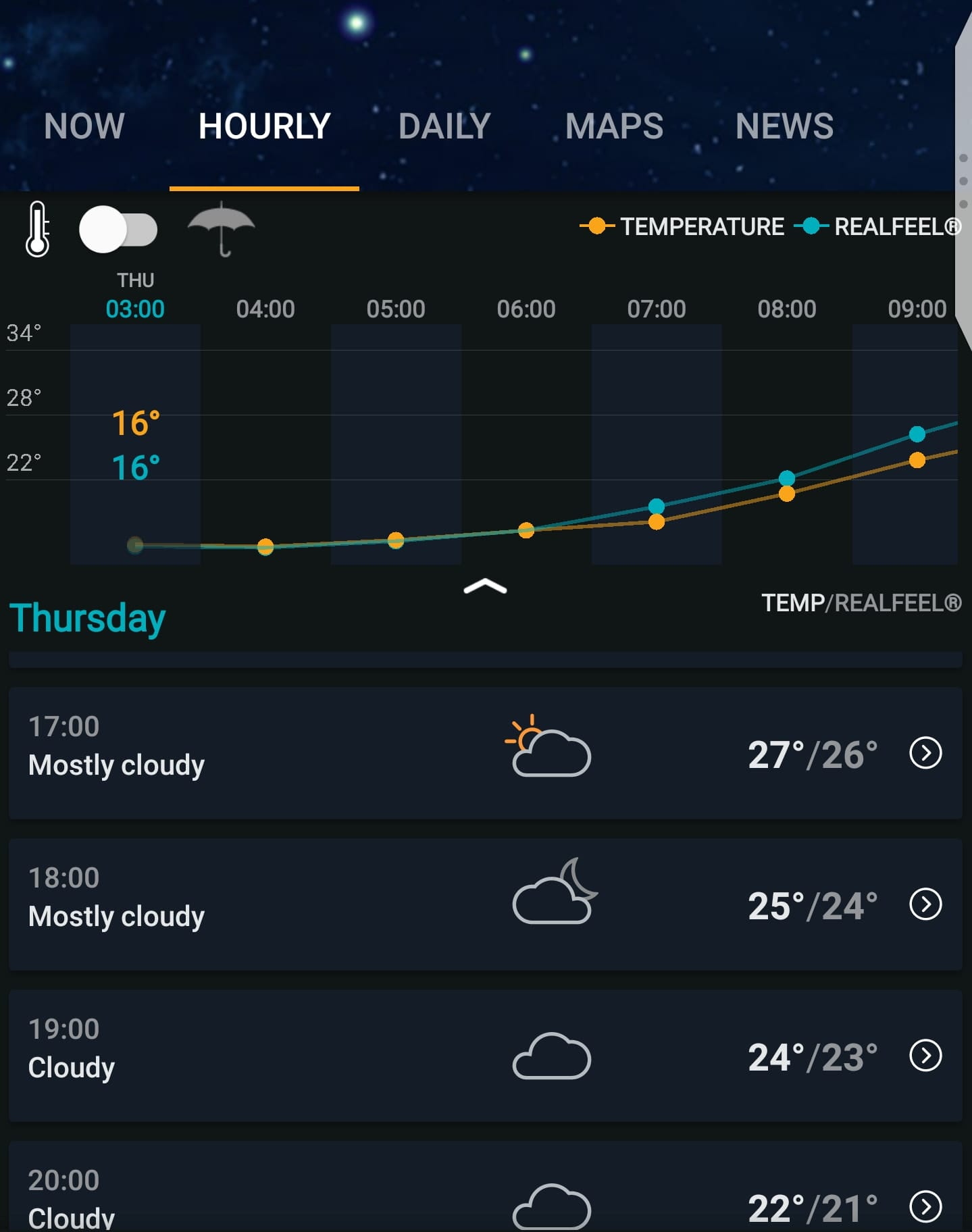 AccuWeather travel app for weather forecasts