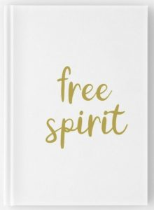 Free Spirit travel notebooks gold hand lettering design
