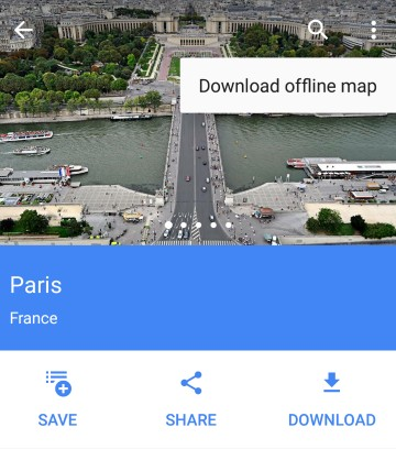 Google Maps - download offline map