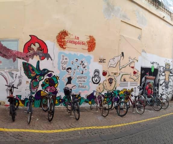 Legal street art wall in Tel Aviv