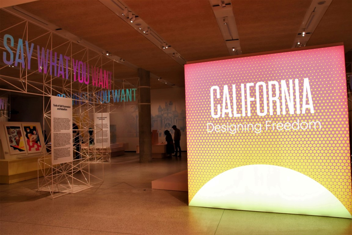 London Design Museum - California:Designing Freedom - the entrance to the exhibition