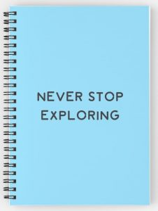Never Stop Exploring - travelers notebooks