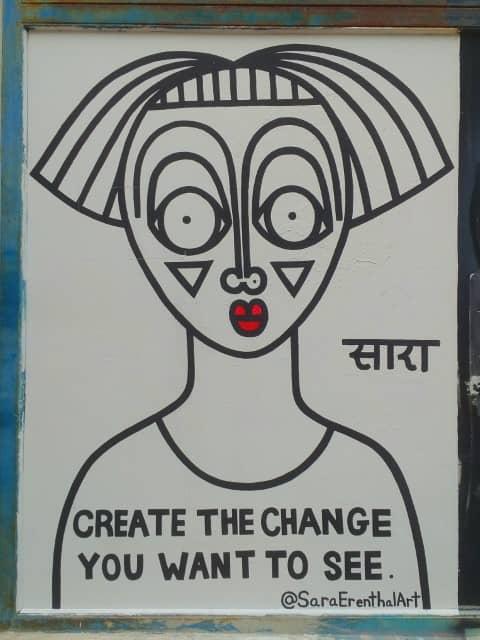 Sara Erenthal Art -  Street Art in Tel Aviv
