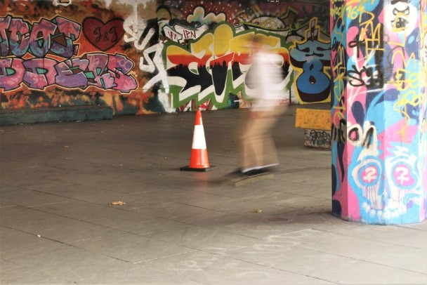 The skate park at South Bank London