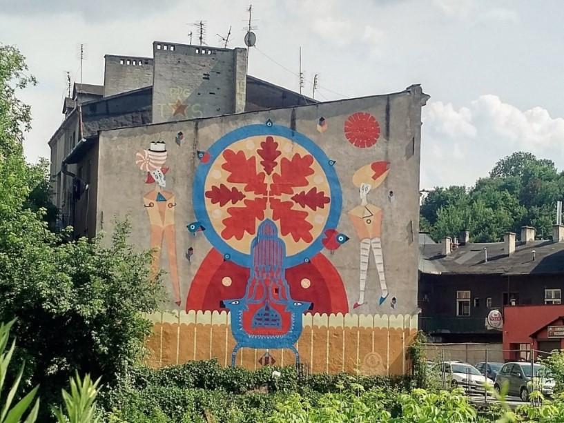 Symbols of Podgórze Mural