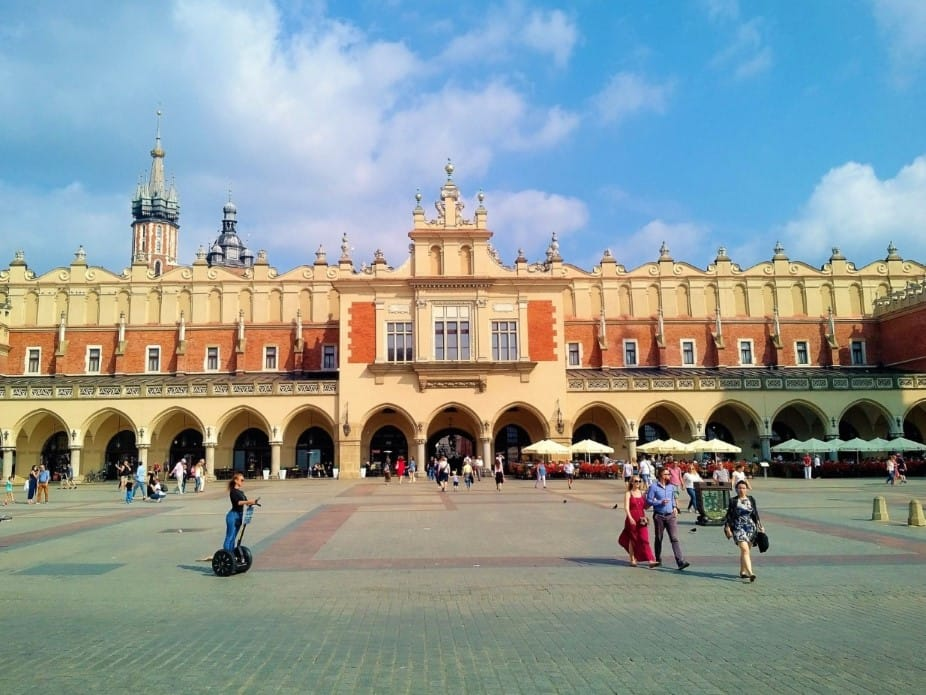 Krakow Design The Cloth Hall - view from the main square