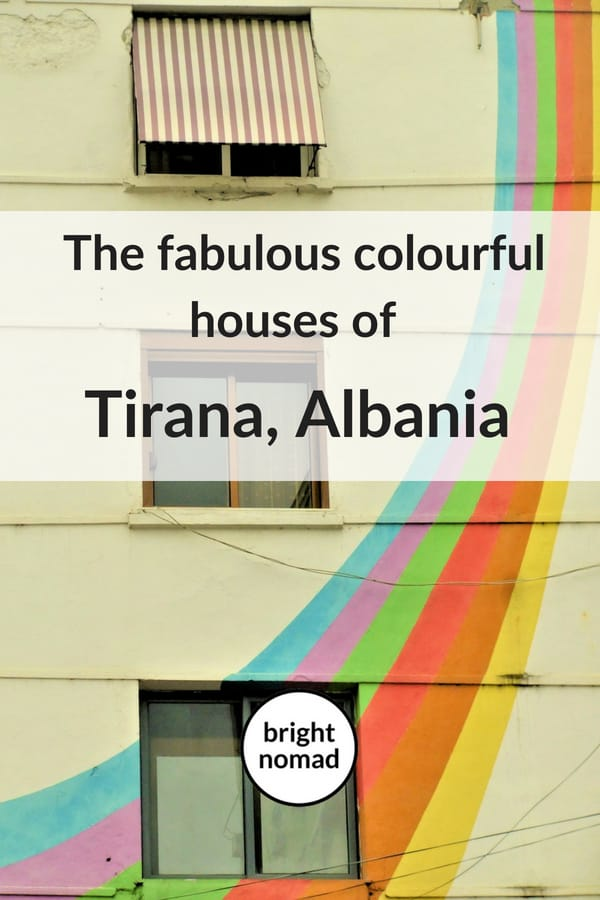 Tirana Albania colourful houoses
