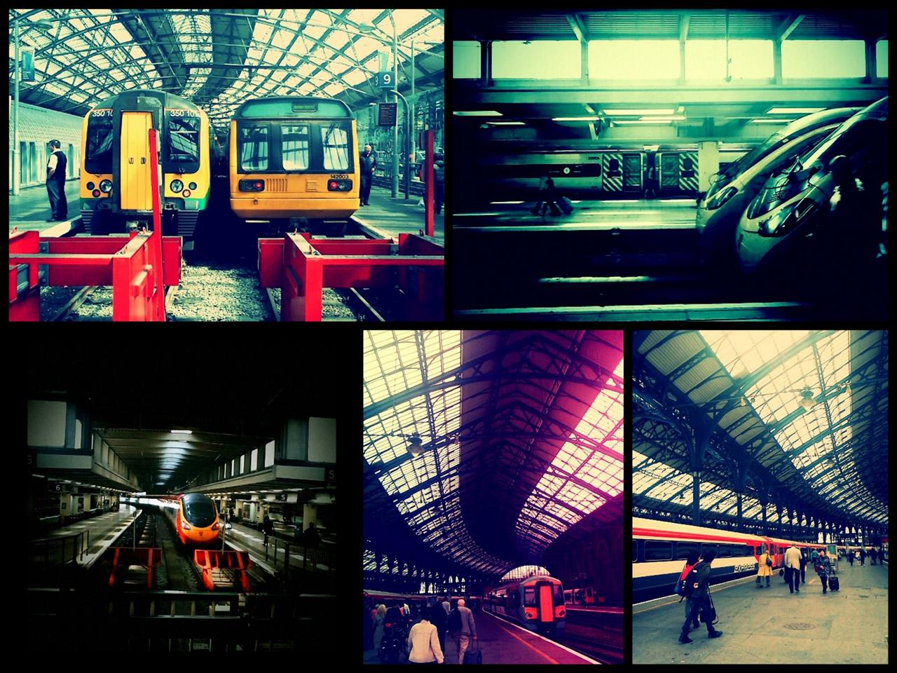 Photo Collage -Train Stations