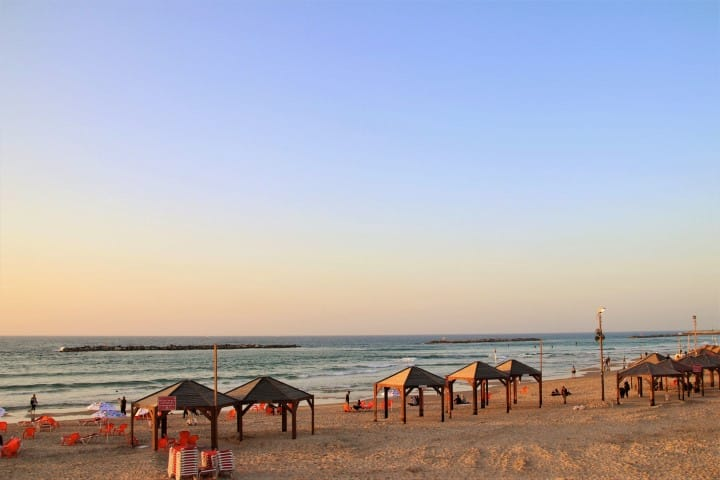 Tel Aviv beach - Budget travel tips