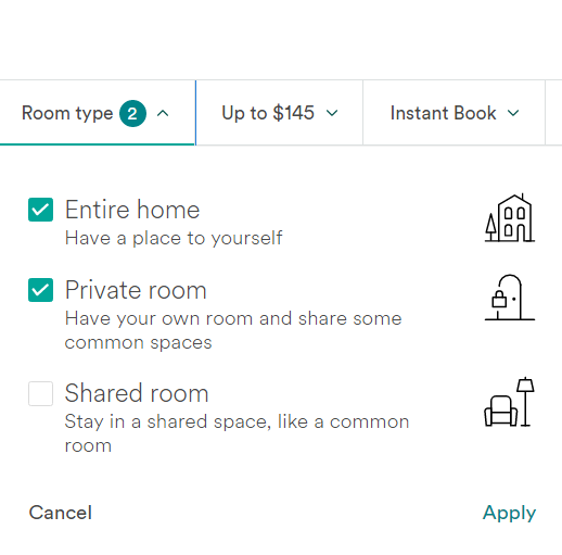 Airbnb Room Type - How to use Airbnb