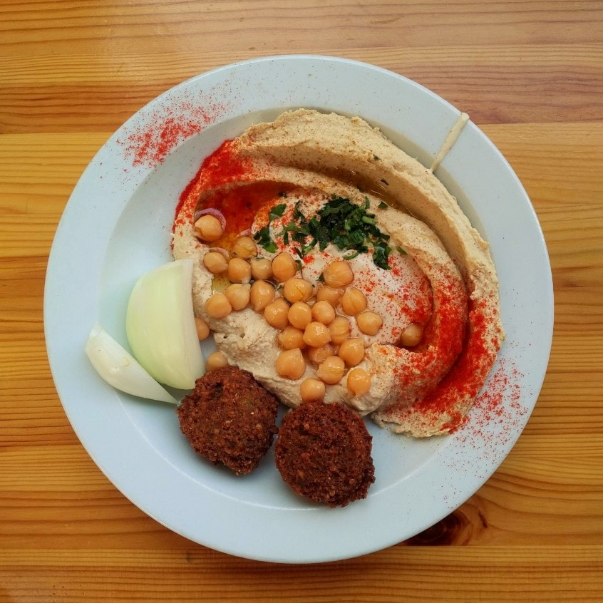 hummus ajami Vegan Tel Aviv food tour with Bitemojo