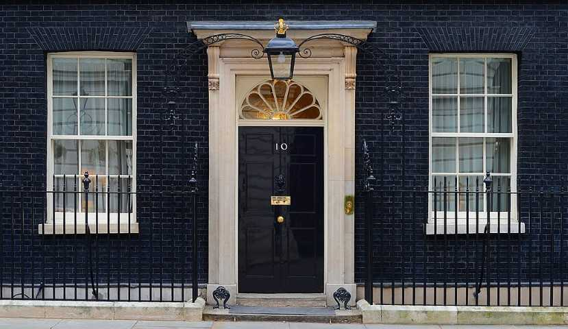 10 Downing Street, one of the most famous addresses in London.