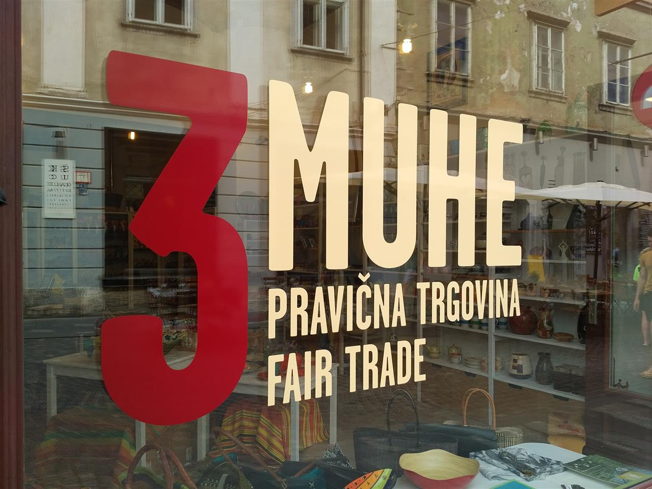 3MUEH fair trade store in Ljubljana