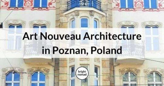 Art Nouveau architecture buildings in Poznan Poland