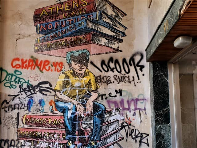 Athens street art - paste up