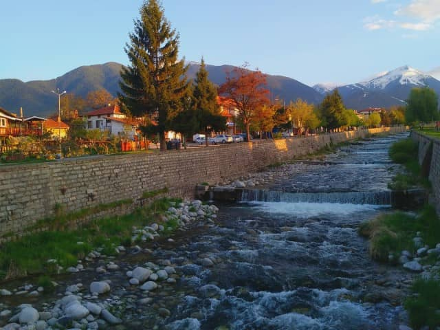 Bansko Bulgaria river and mountains