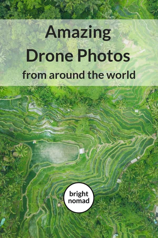Beautiful drone travel photography