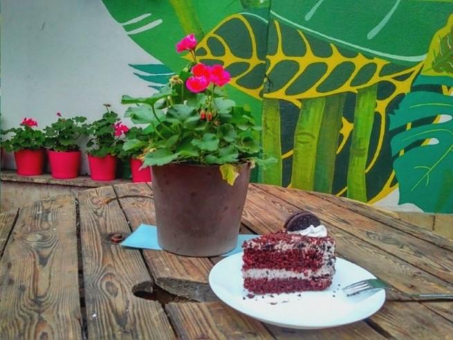Bonobo Cafe Krakow - vegan cake