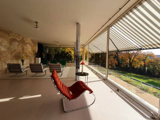Brno Villa Tugendhat - stylish chairs in the living room