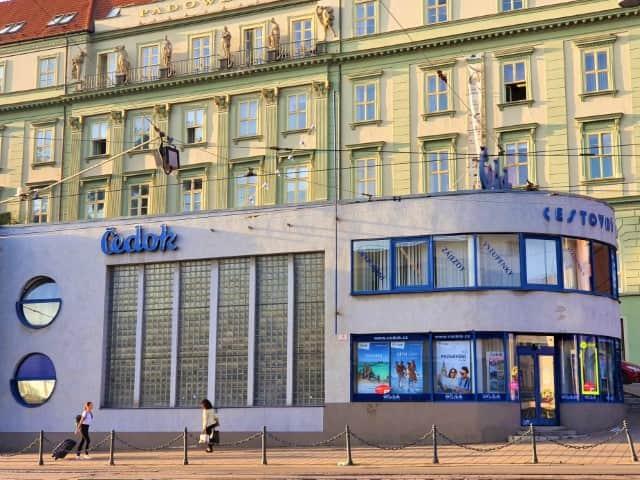 Čedok Building - functionalist architecture in Brno