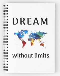 DREAM without limit - world map notebook