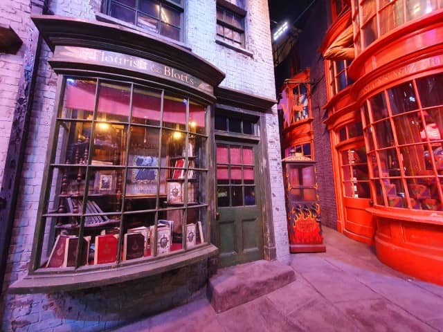 Diagon Alley at the Warner Bros Harry Potter Studios