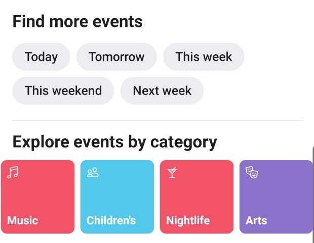 Facebook Local phone app screenshot