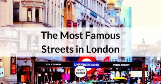 Famous streets in London England