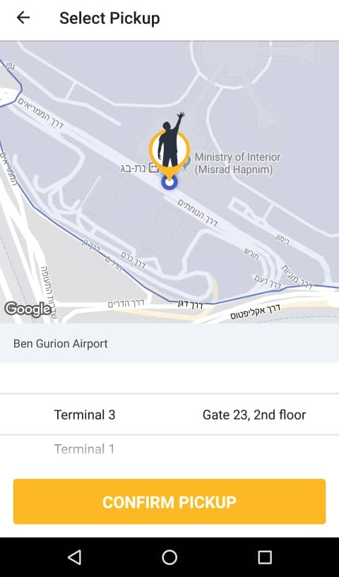 Gett taxi app - Super useful in Israel