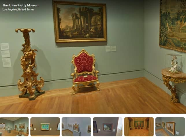 Getty Museum - 360 degree museum virtual tour