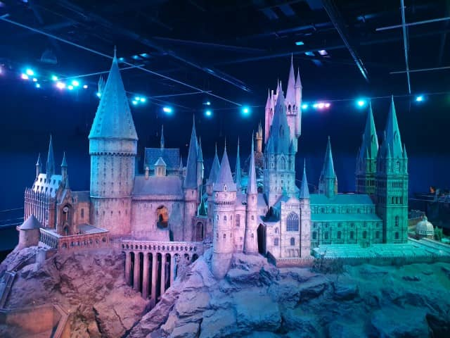 Hogwarts Castle model at the Harry Potter Studio London