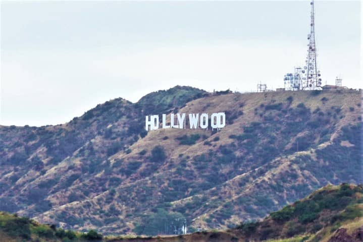 Hollywood sign from Griffiths Observatory, Los Angeles