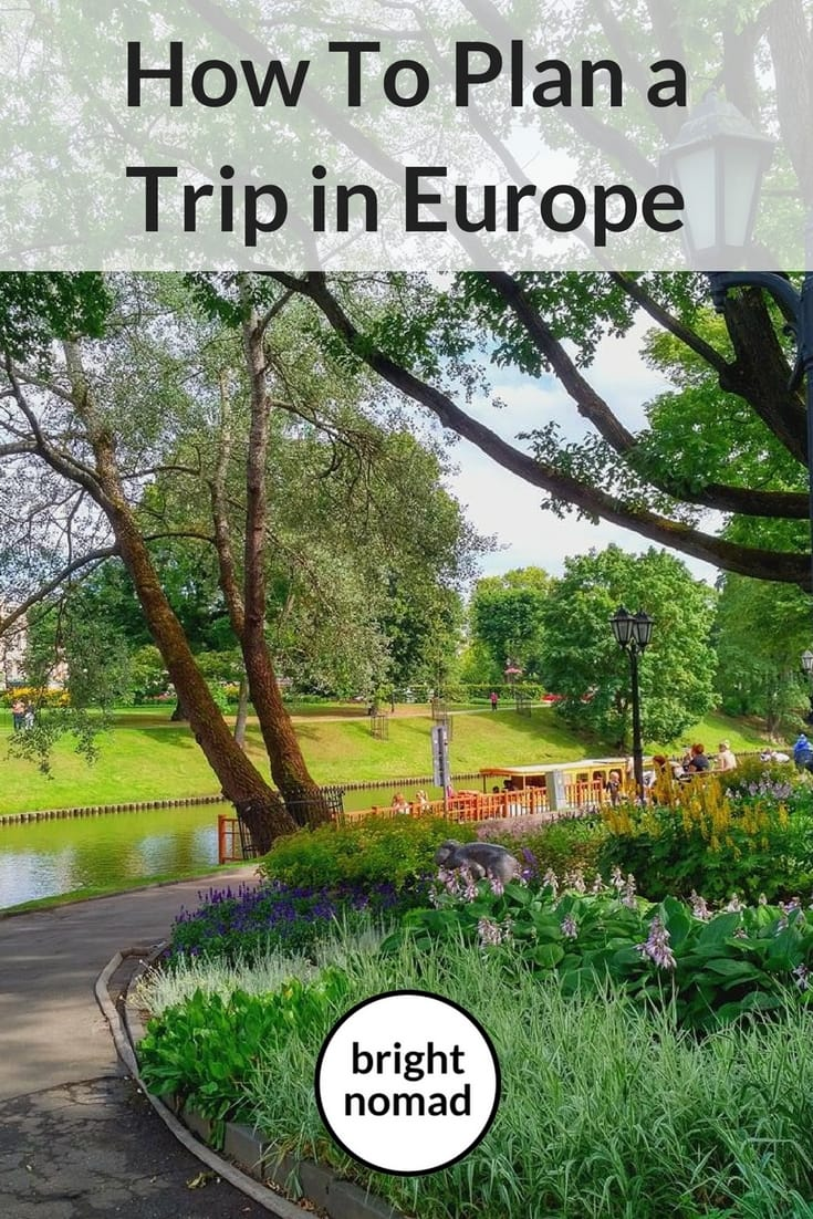 How to plan a trip in Europe