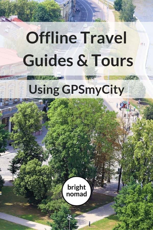 How to use GPSmyCity for offline guides and tours