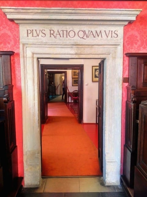 Jagiellonian University Museum in Krakow:  Let reason rule not force