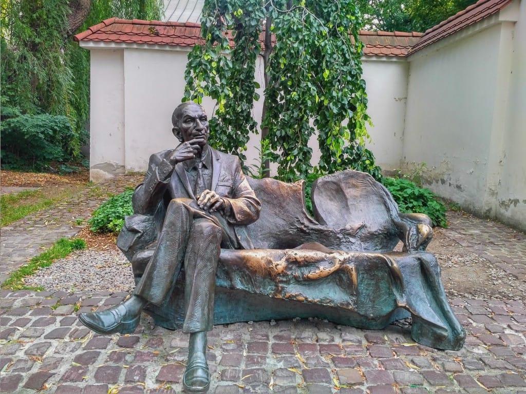 Krakow - Jan Karski statue in the Jewish Quarter in Krakow