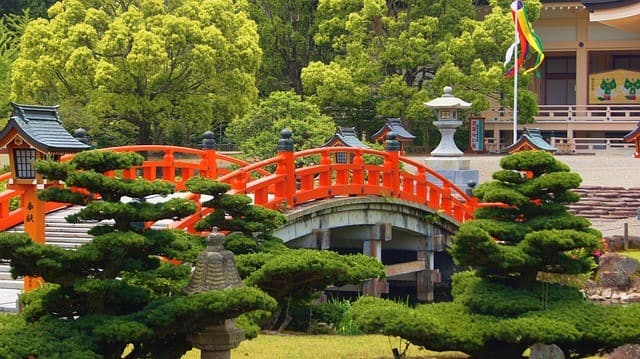 Japanese gardens in Kyoto