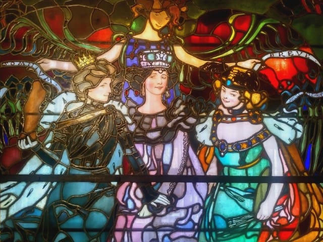 Museums in Krakow: Jozef Mehoffer House Krakow - stained glass