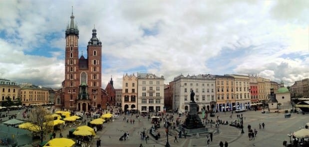 Krakow Main Square panorama