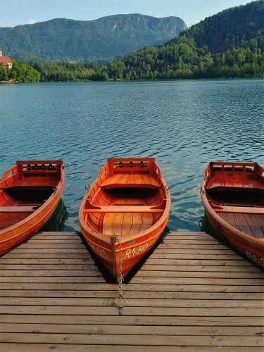 Lake Bled, Slovenia - boats on the lake