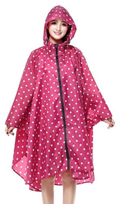 Lightweight rain jacket - essential in London packing list