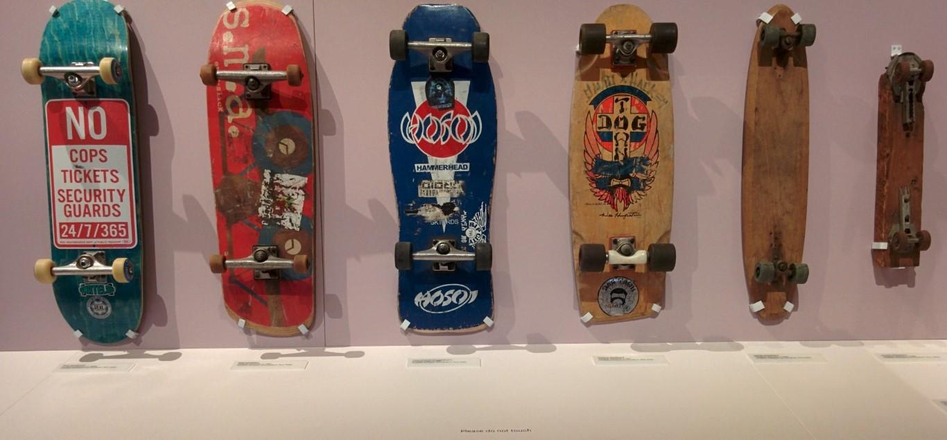 The evolution of skateboards the Design Museum