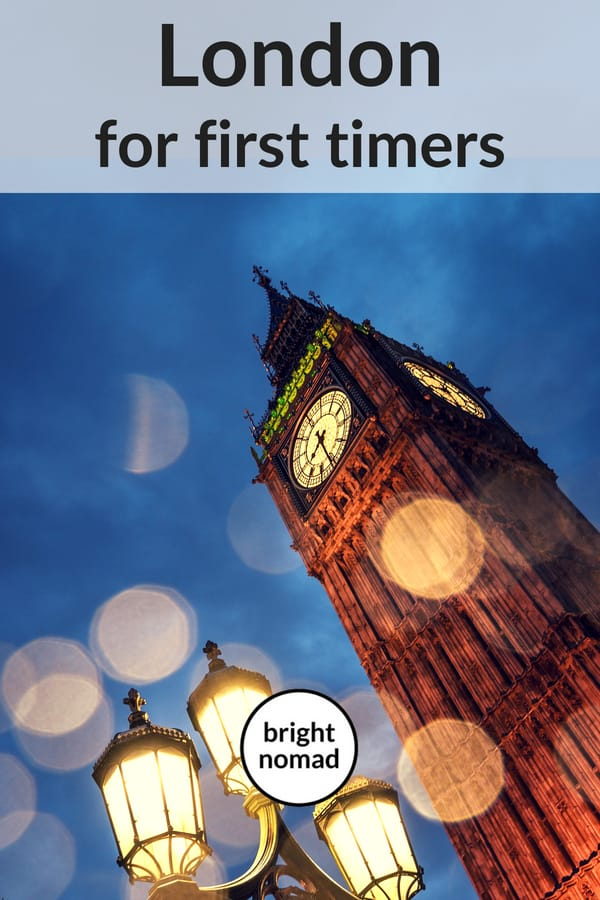 London tips for first timers