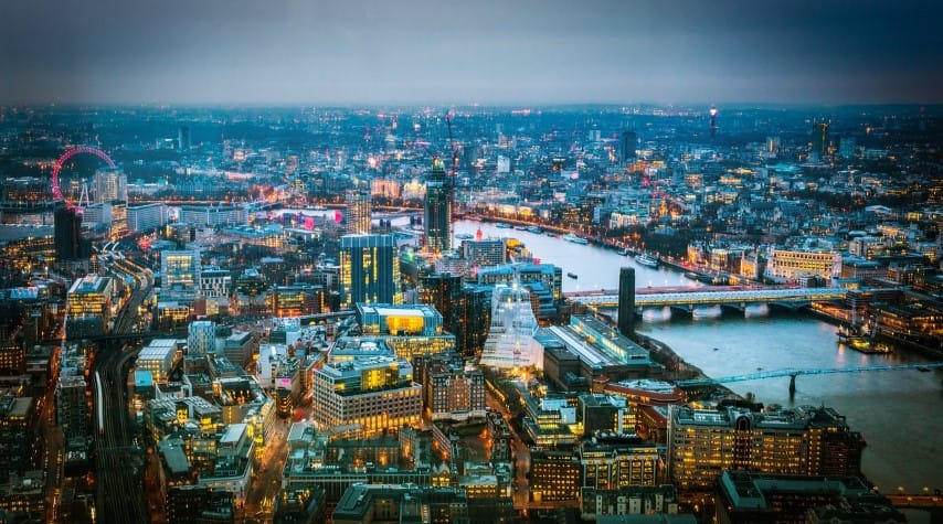 London view from above