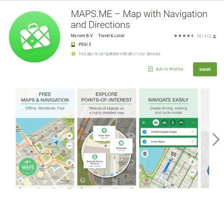 Offline Maps Compared: Maps.me and Google Maps - Bright Nomad on education app, mobile app, my google maps, animation app, google app, events app, goanimate app,