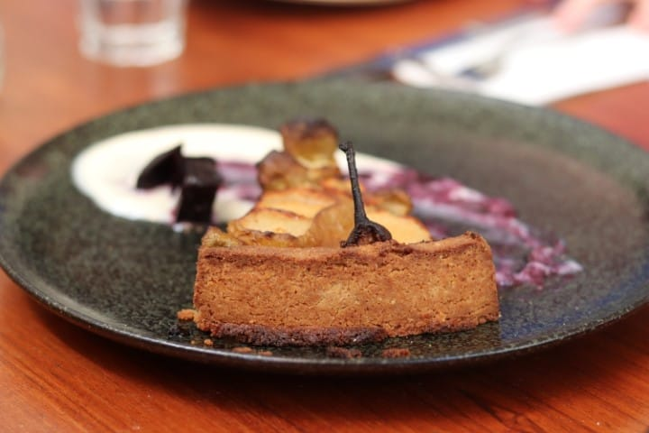 Vegan pear cake, one of many vegan desserts we had at the end of the food tour