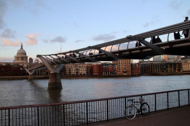 South Bank London Millennium Bridge and St Pauls (2)