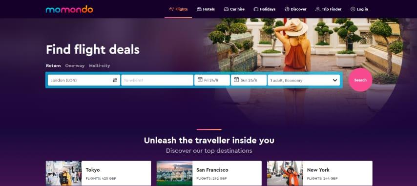 Momondo - Flight search engine