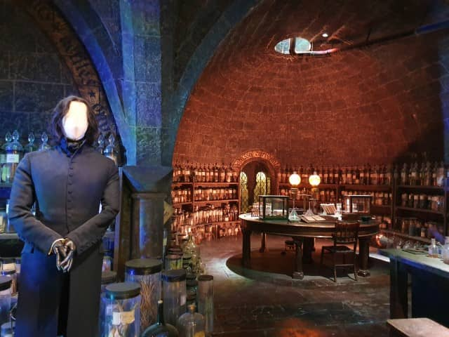 Potions Classroom at the Harry Potter Studio Tour