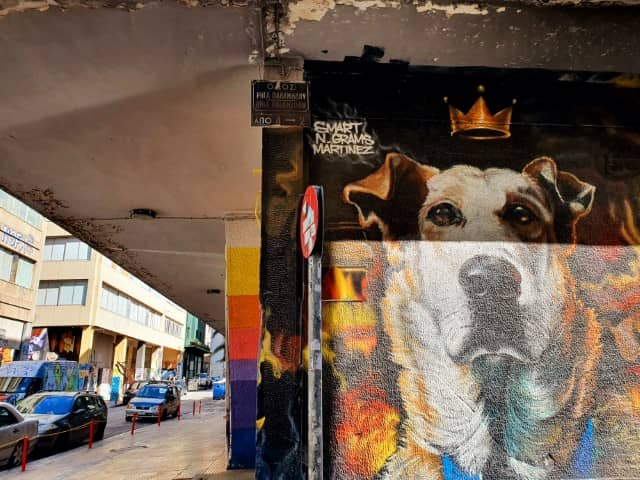 Riot Dog - well known street art in Athens